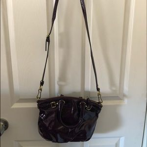 Coach Patent Leather Crossbody Handbag
